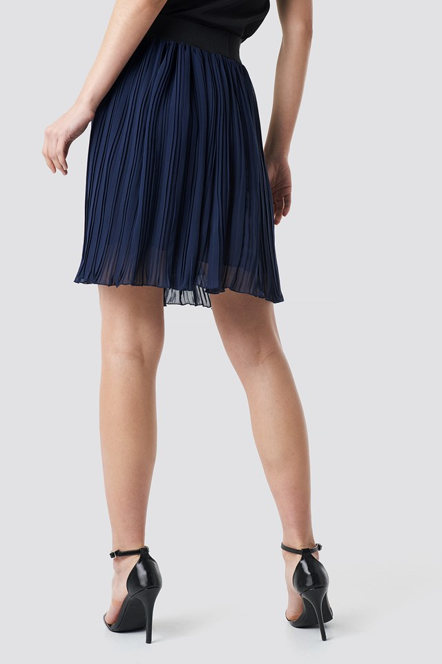 Indigo Pleated Skirt Indigo