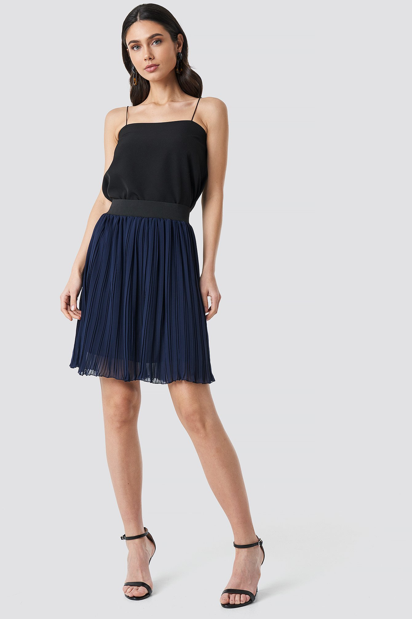 Indigo Pleated Skirt NA-KD.COM