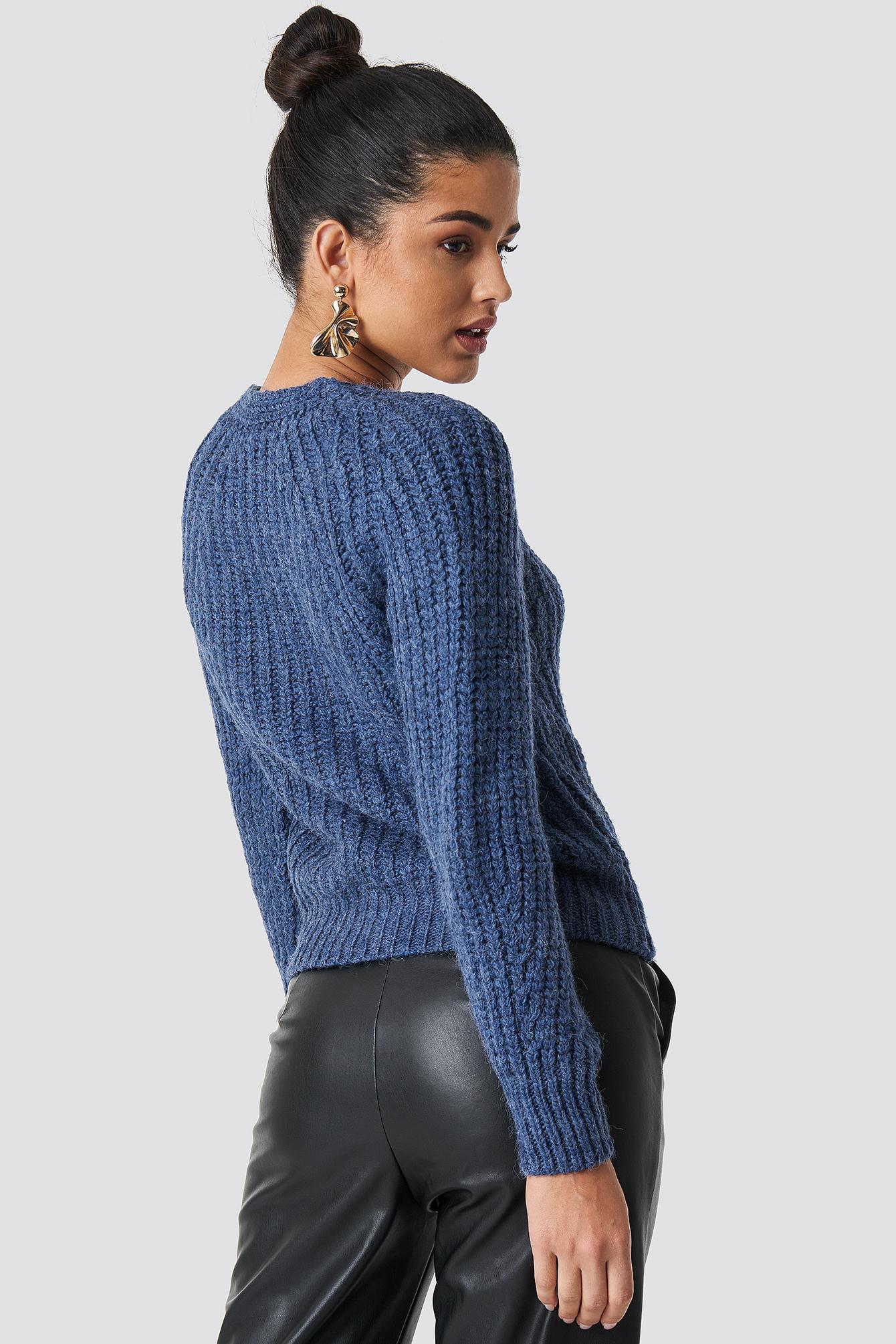 Indigo V-neck Pullover NA-KD.COM