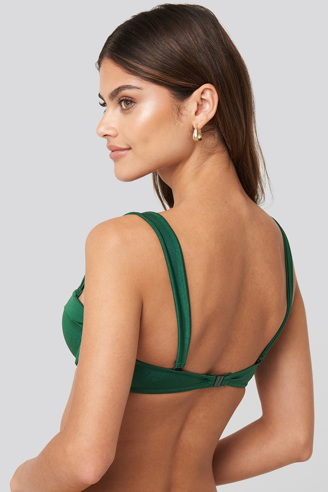 Interconnected Bikini Top Green