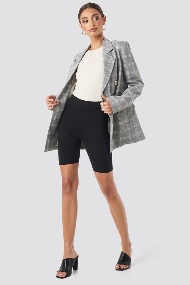 Jersey Biker Shorts Black