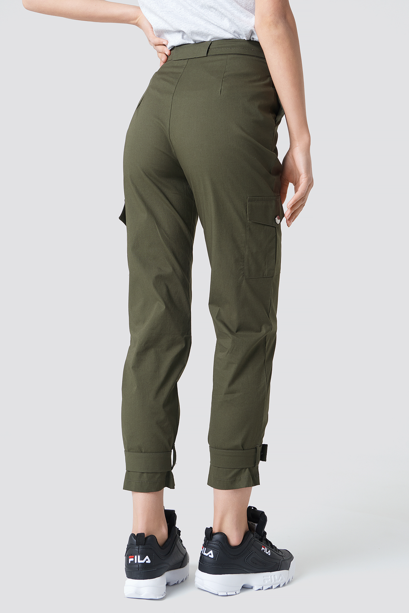 Knee Pocket Pants NA-KD.COM