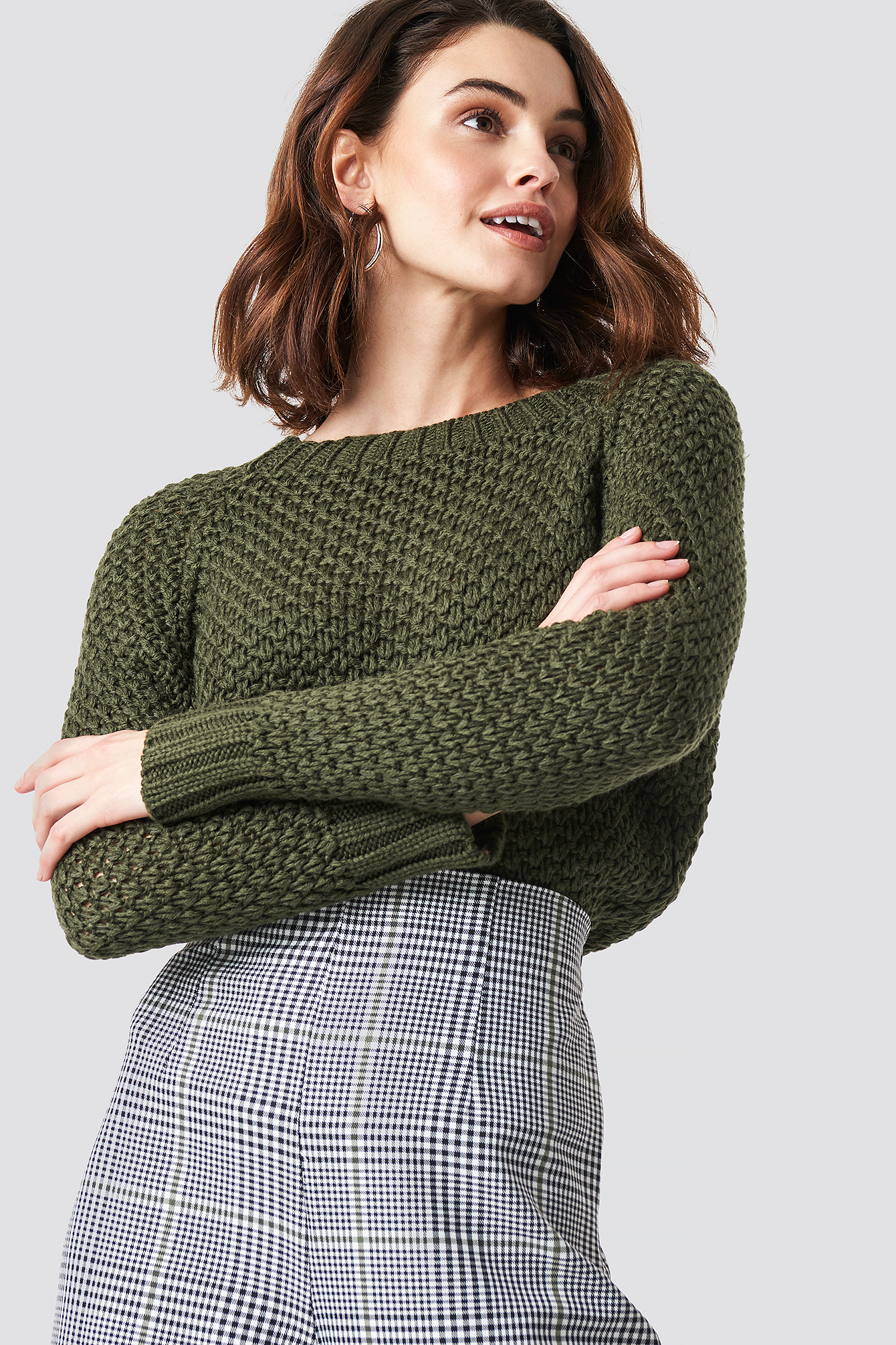 trendyol -  Knit Detailed Sweater - Green