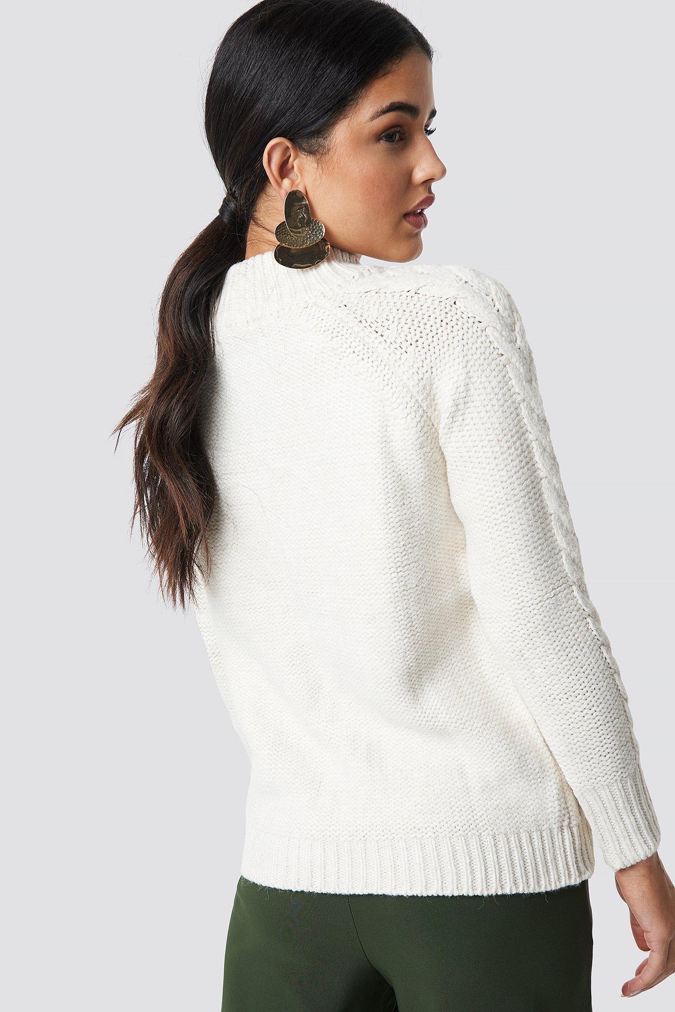 Knit Zipp Detail Sweater NA-KD.COM