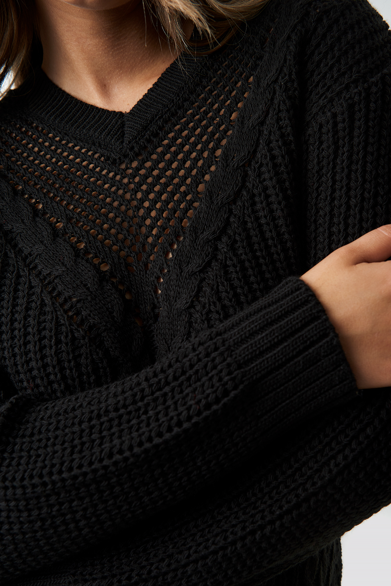 Knitted Detailed Tofa Sweater NA-KD.COM
