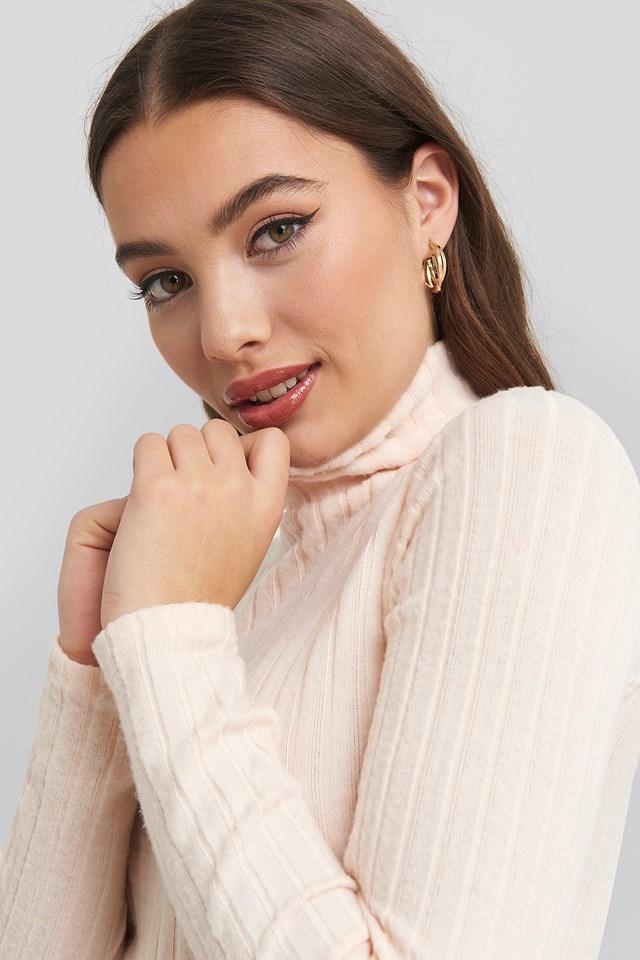 Knitted Turtleneck Top Trendyol