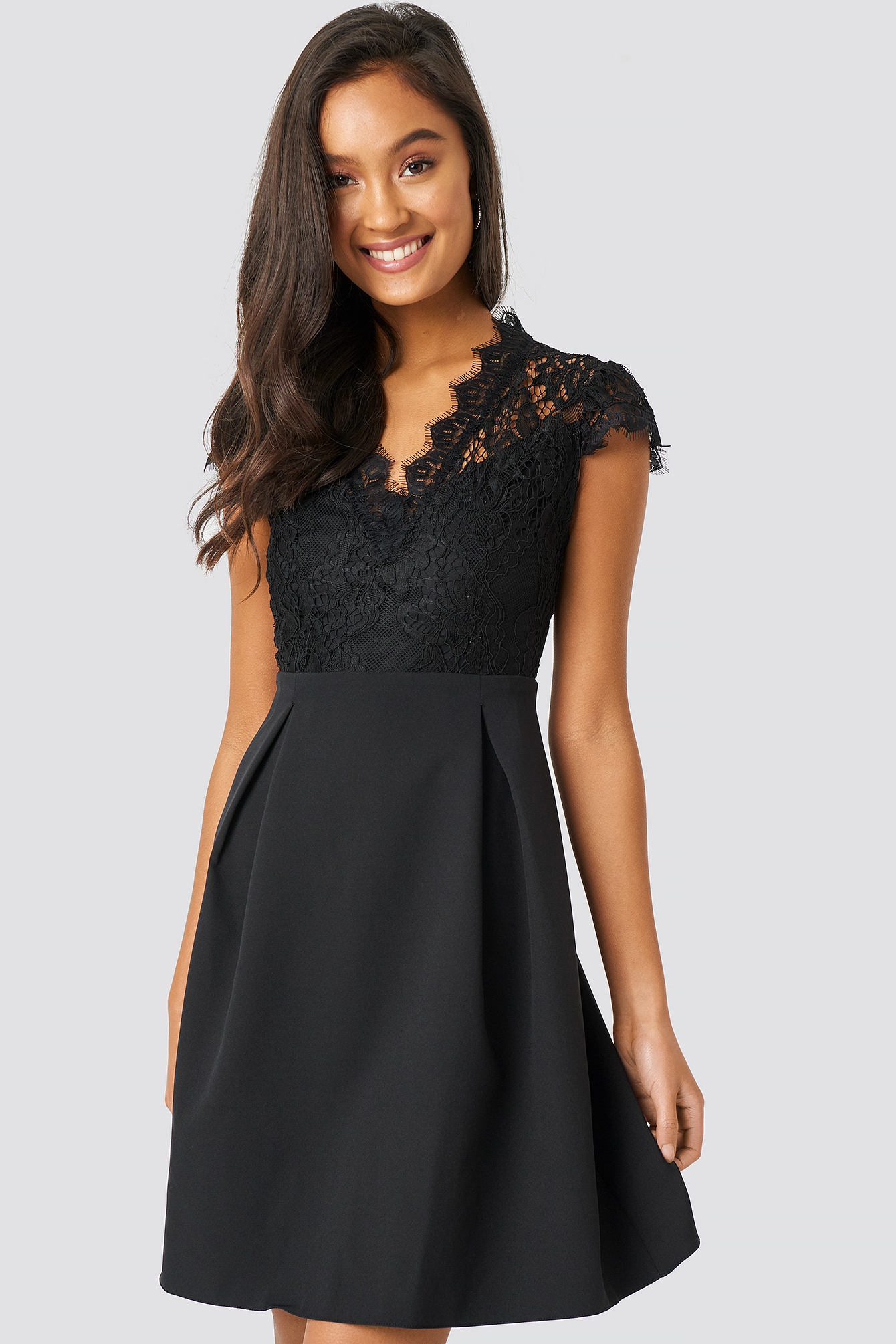 Lace Collar Mini Dress NA-KD.COM