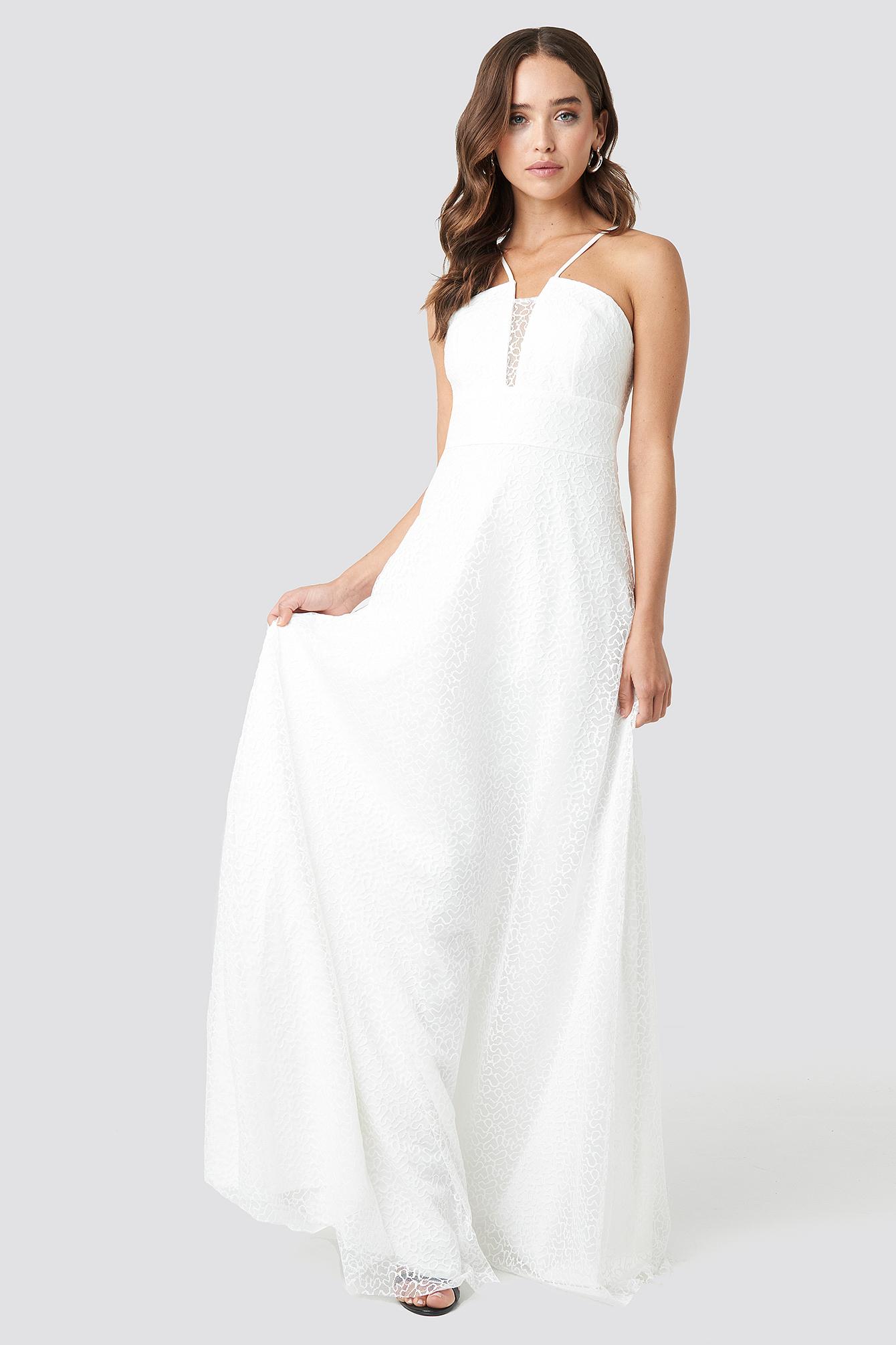 Lace Detailed Evening Dress NA-KD.COM