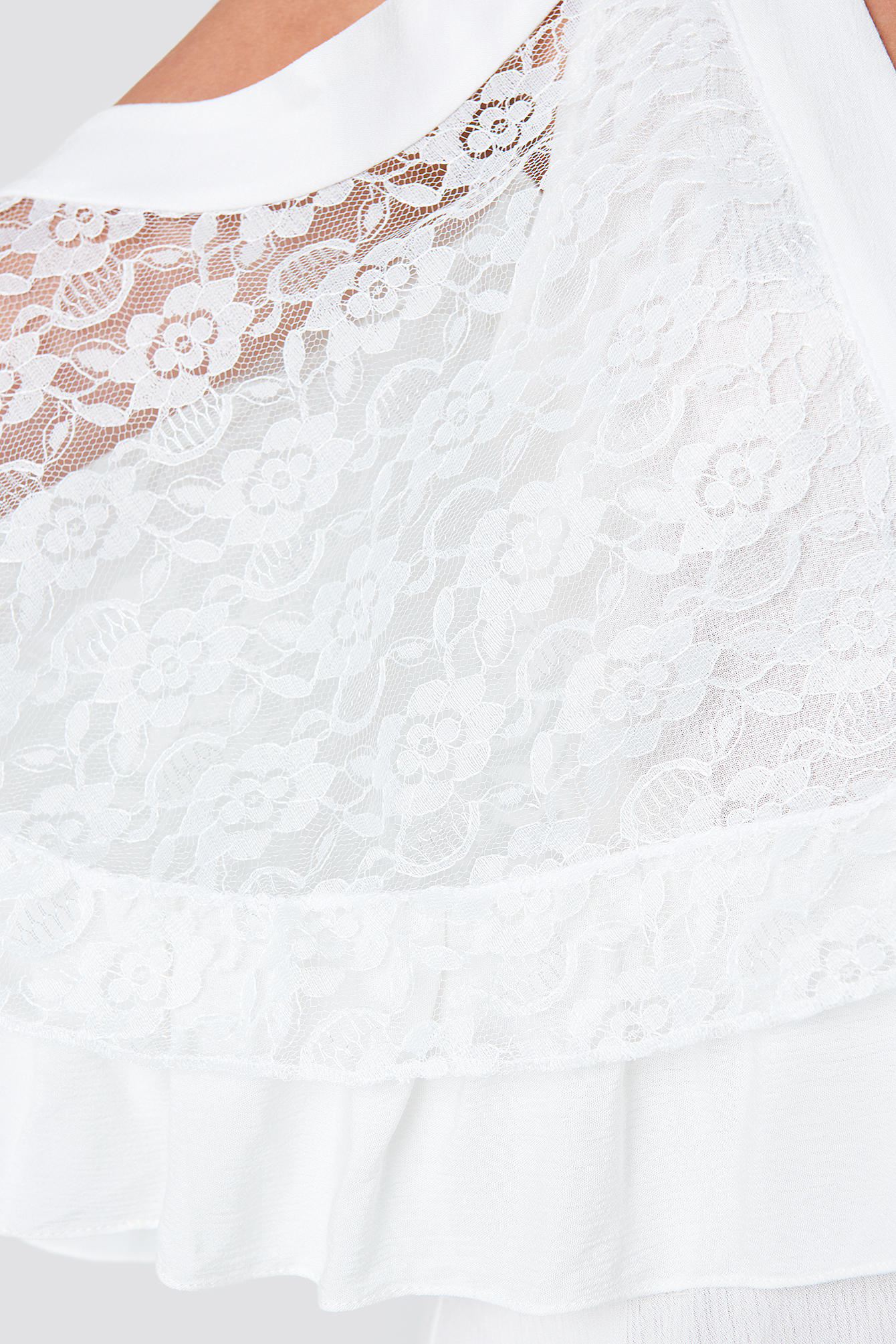 Lace Detailed Mini Dress NA-KD.COM