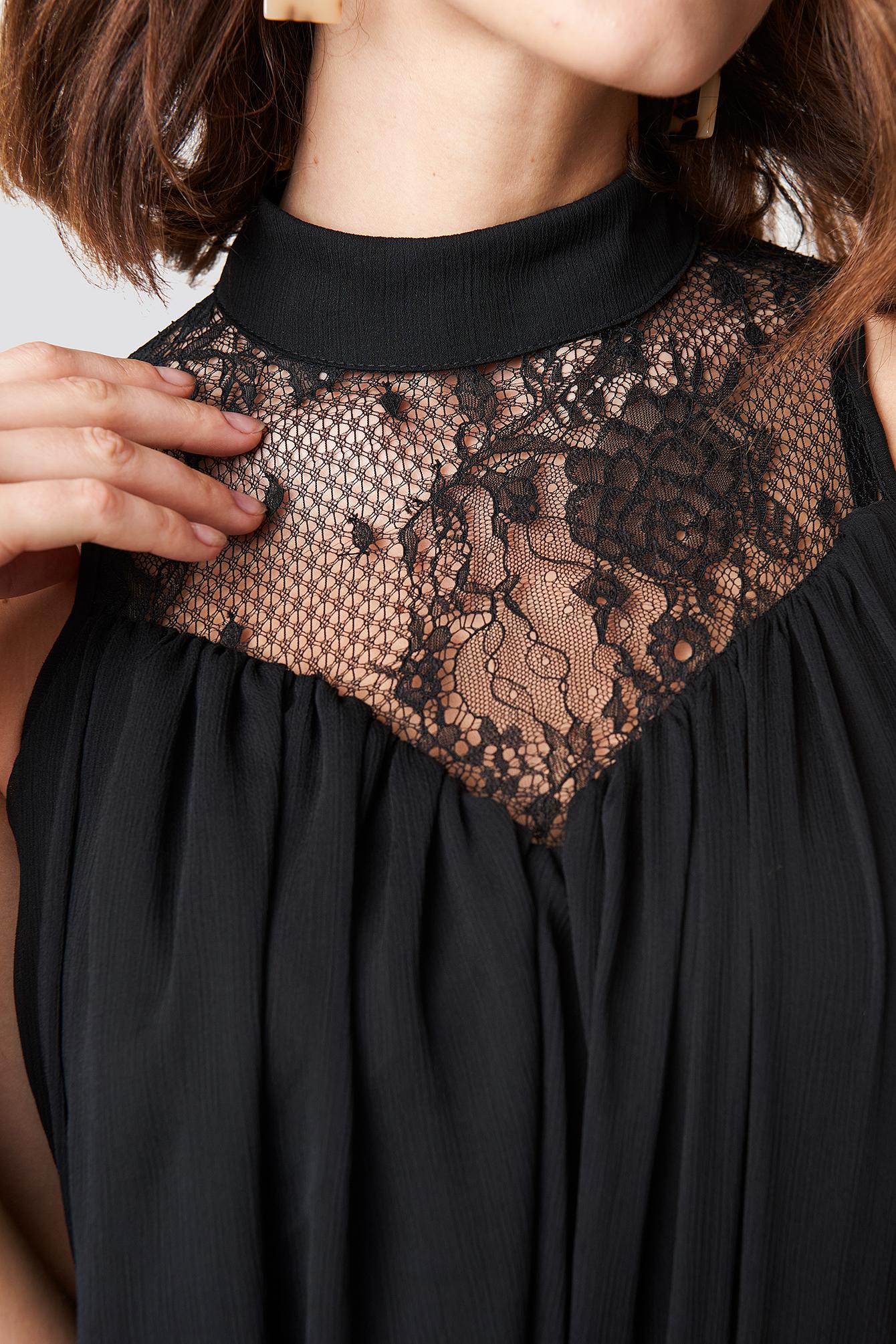 Lace Detailed Mini Dress NA-KD.COM