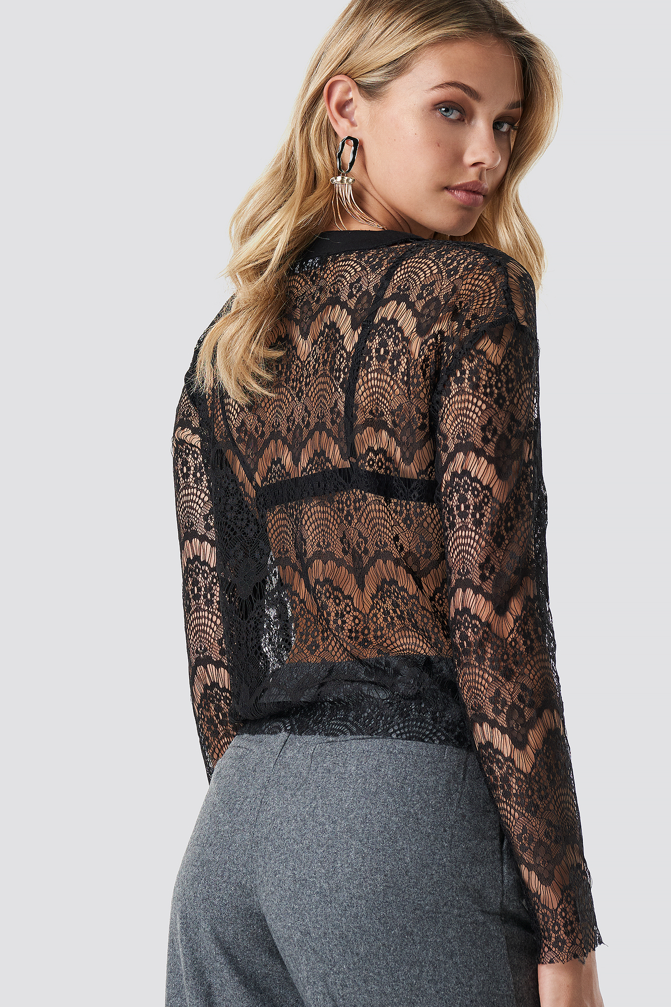 Lace Knitted Blouse NA-KD.COM