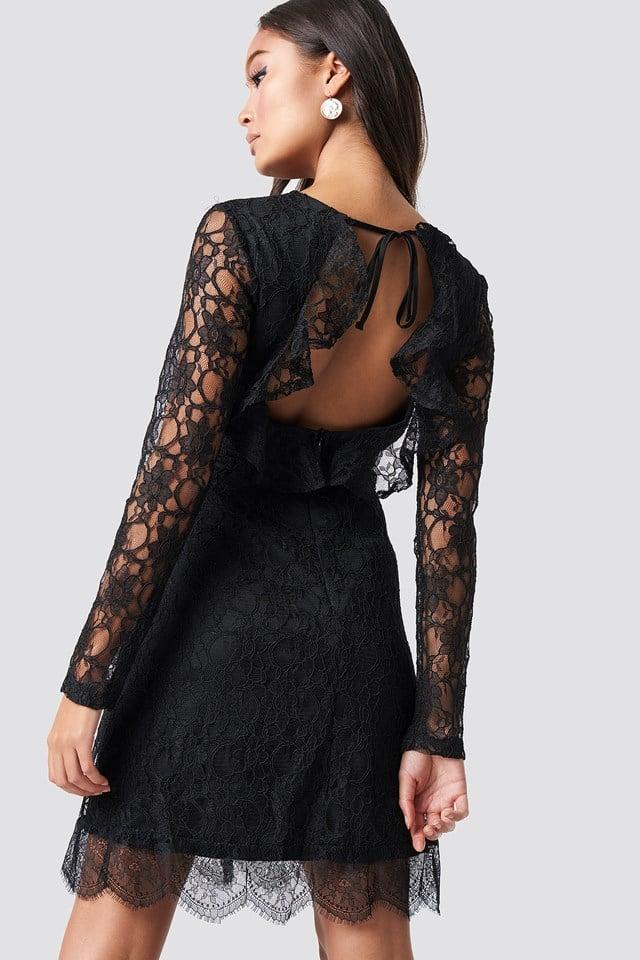 Laced Mini Dress Black