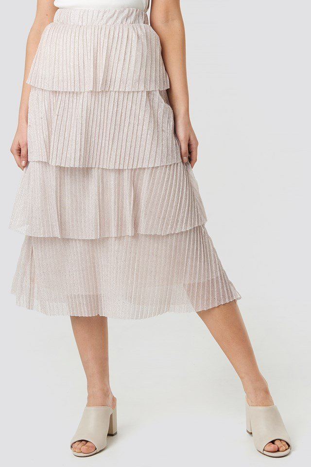 Layer Frill Skirt Powder Pink