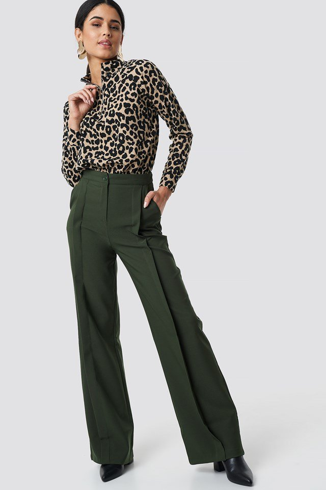 Leopard Patterned Knitted Top NA-KD.COM