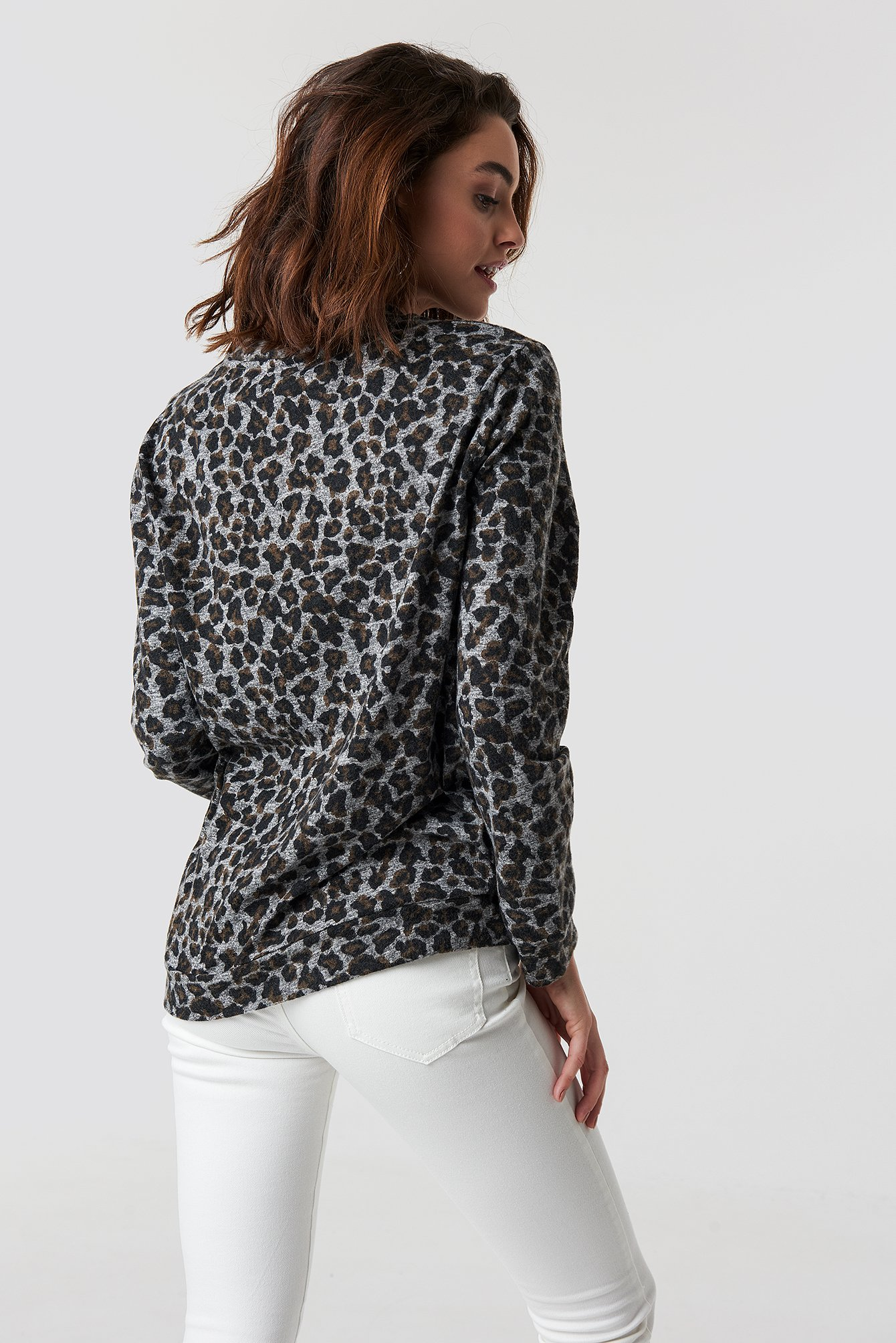 Leo Patterned Knitted Blouse NA-KD.COM
