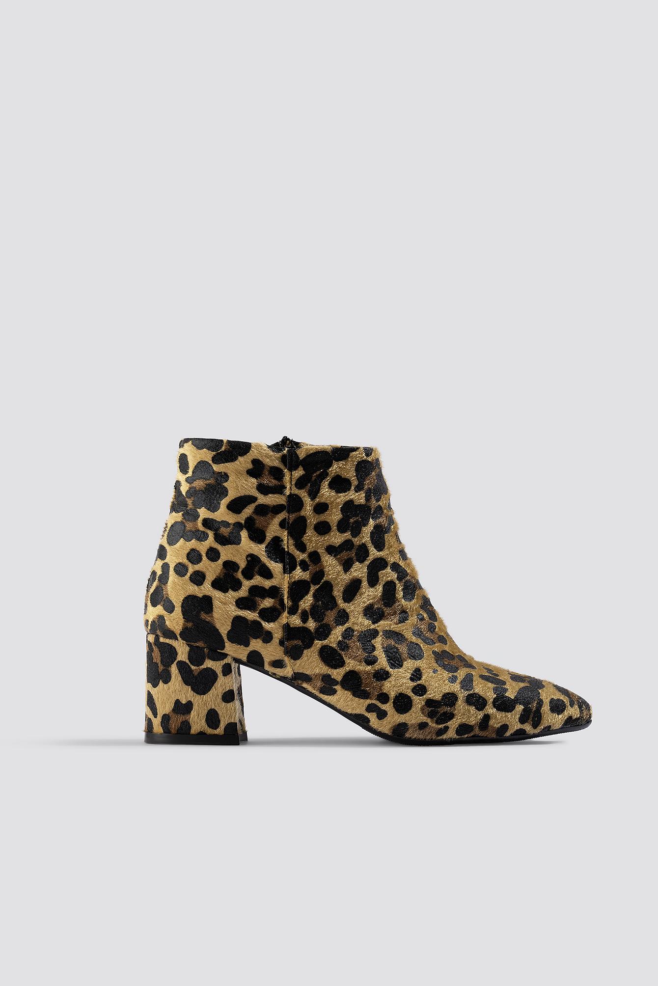 trendyol -  Leo Printed Boots - Brown,Beige,Multicolor