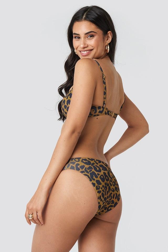 Leopard Patterned Bandeau Bikini Top NA-KD.COM