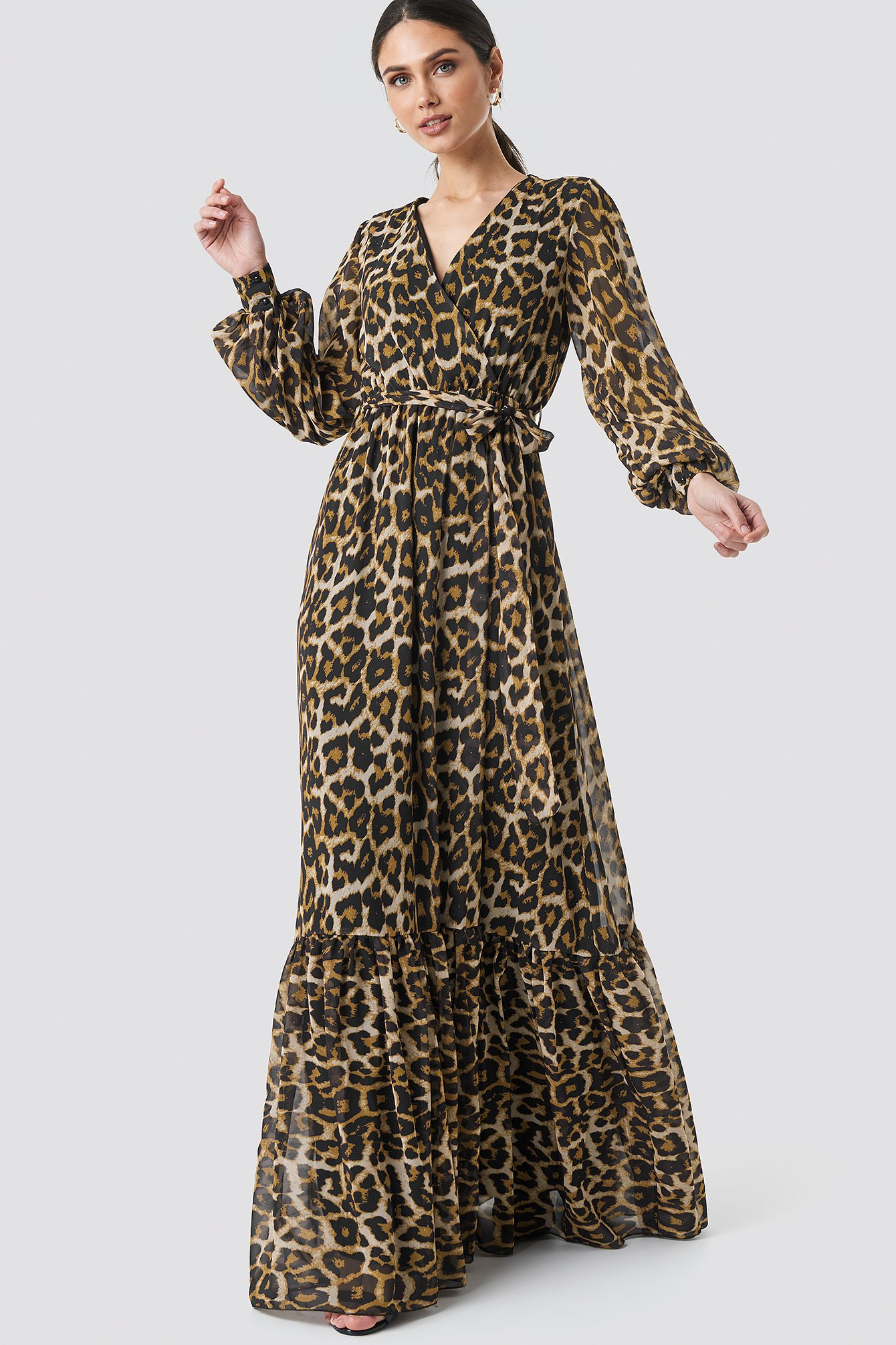 Leopard Patterned Evening Dress NA-KD.COM