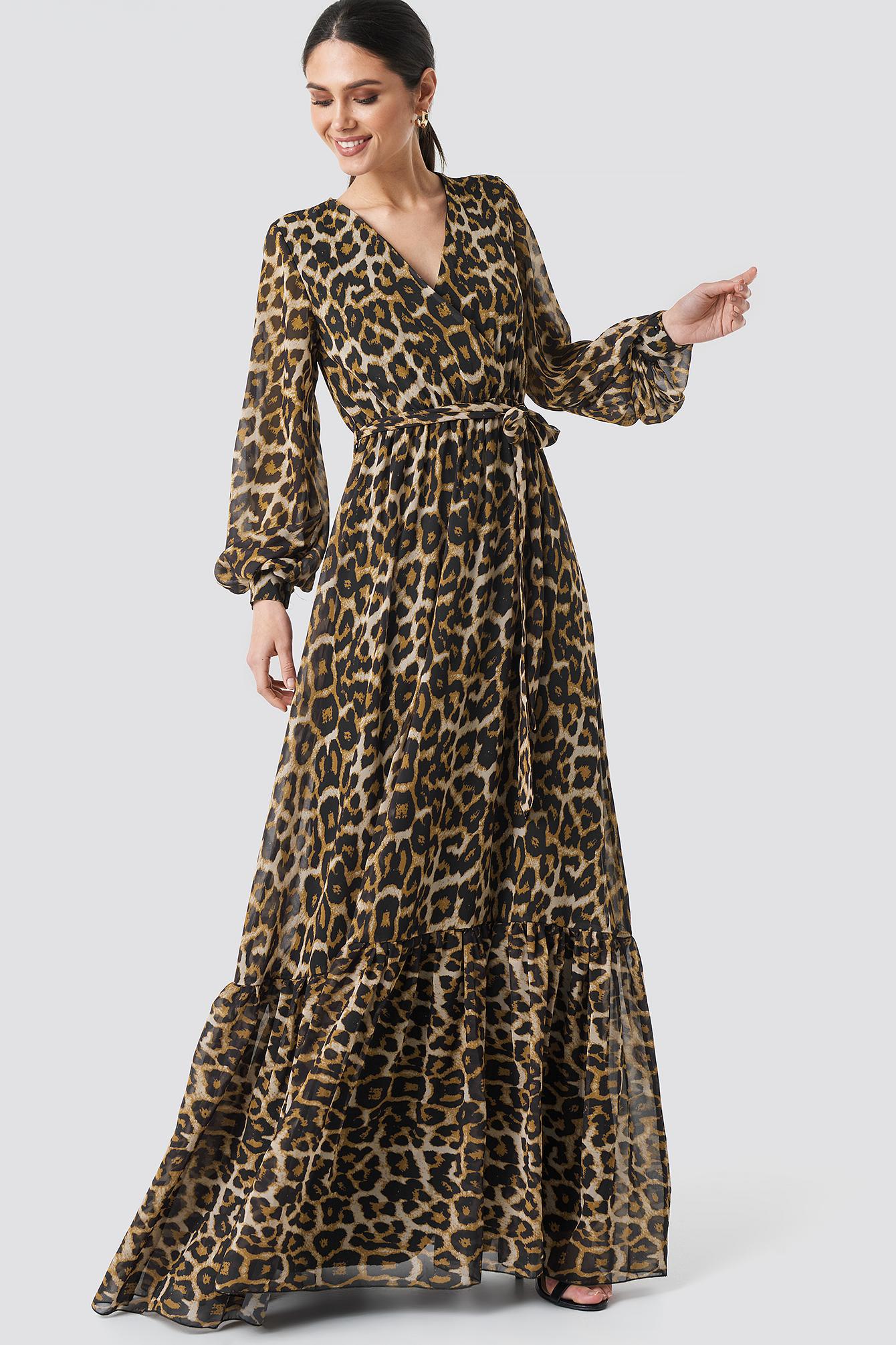 Leopard Patterned Evening Dress NA-KD.COM
