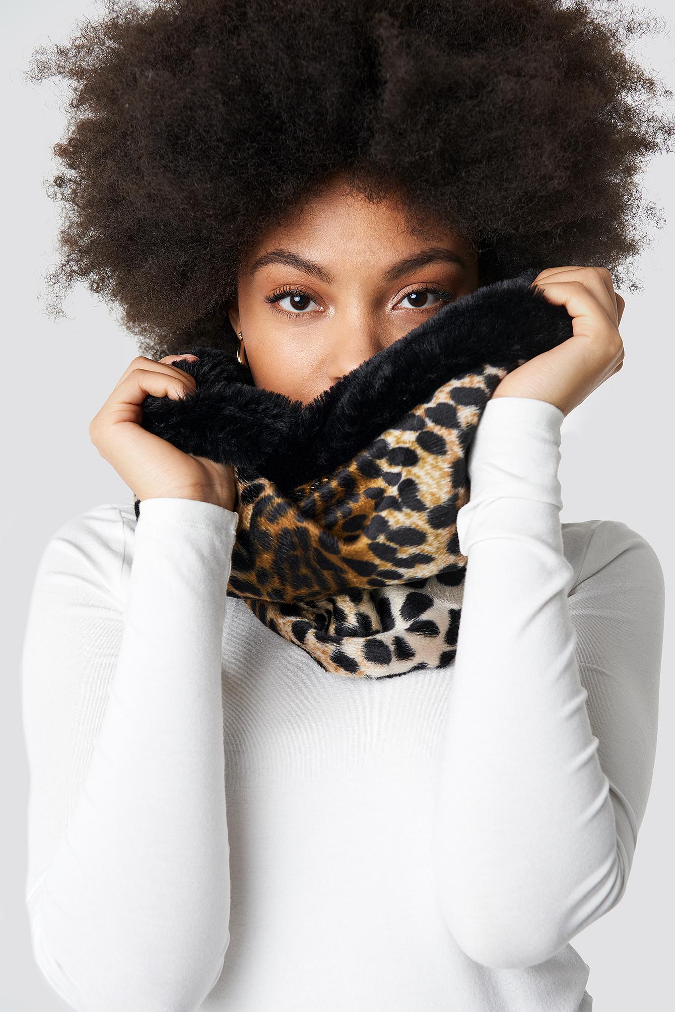Leopard Patterned Neck Collar Scarf NA-KD.COM