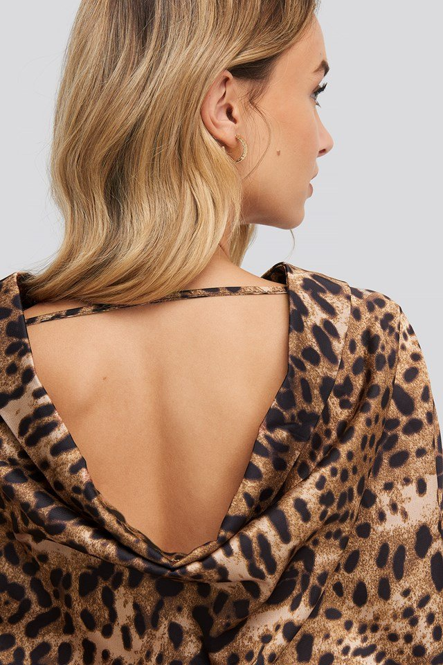Leopard Print Blouse Brown