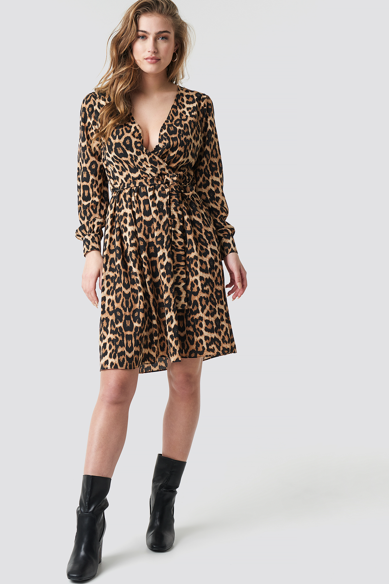 Leopard Printed Double Breasted Dress NA-KD.COM
