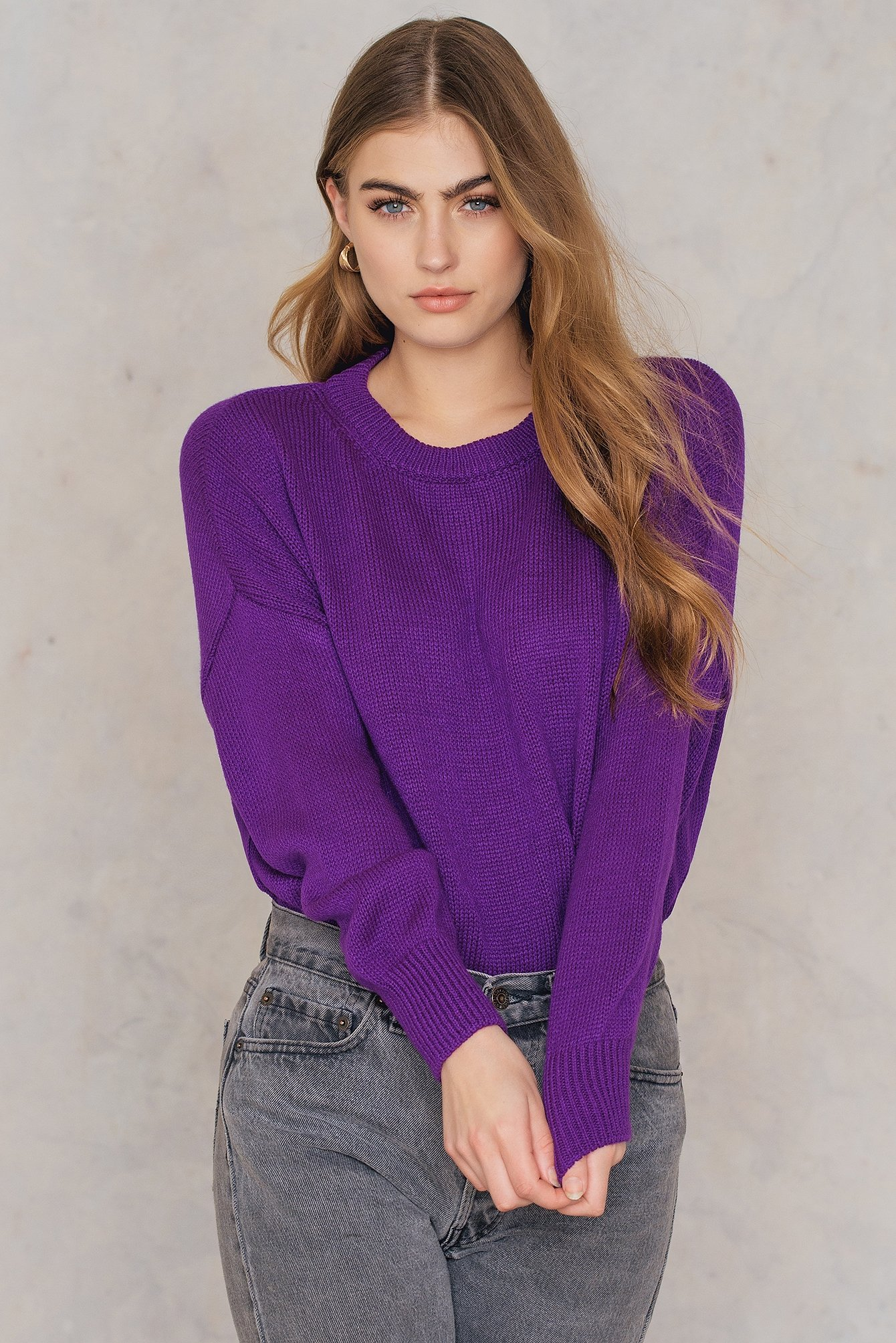 Purple Long Back Jumper