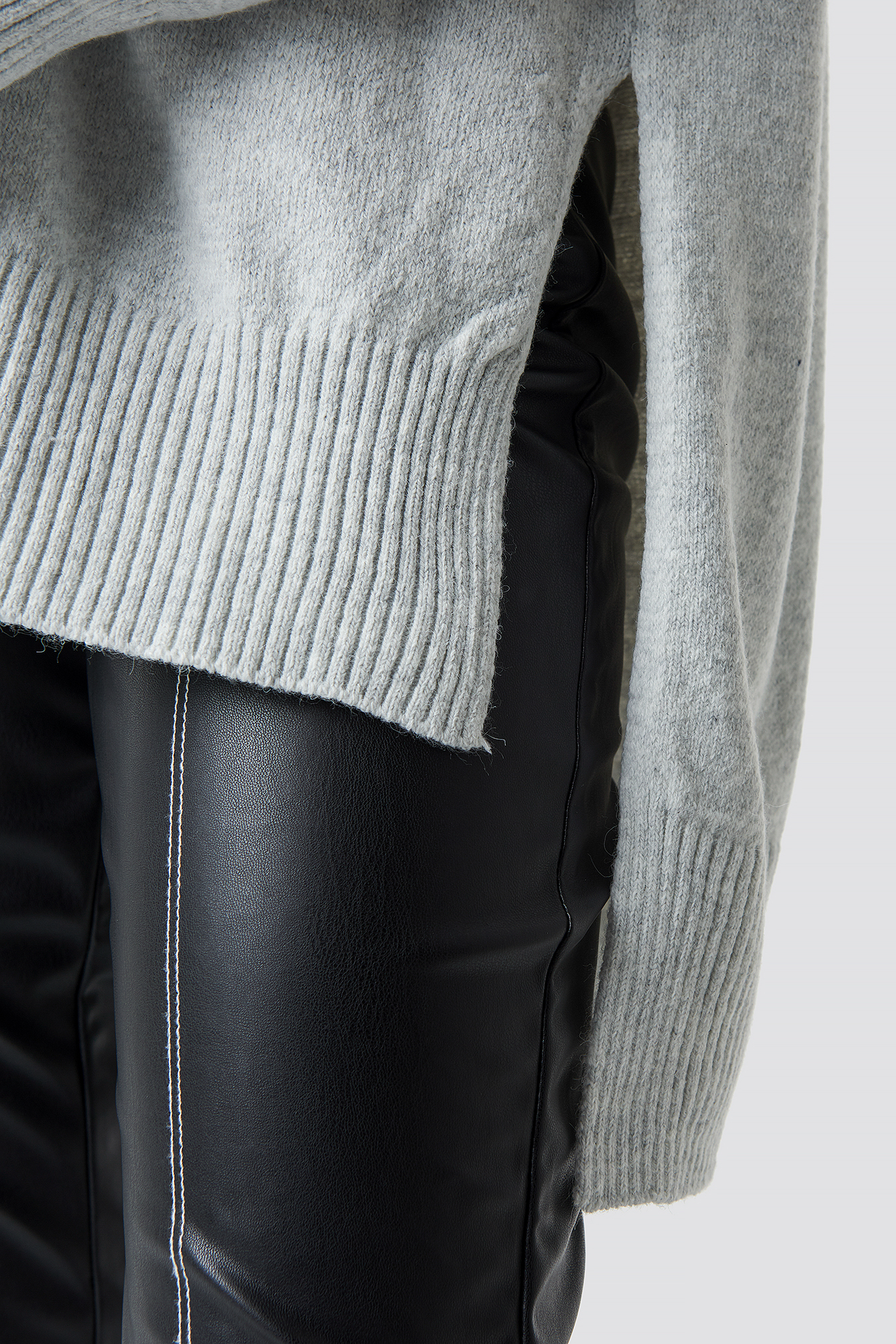Long Back Short Front Knitted Sweater NA-KD.COM