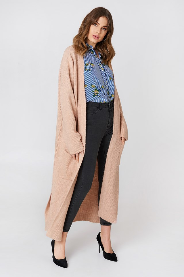 Long Sleeve Front Pocket Cardigan Somon
