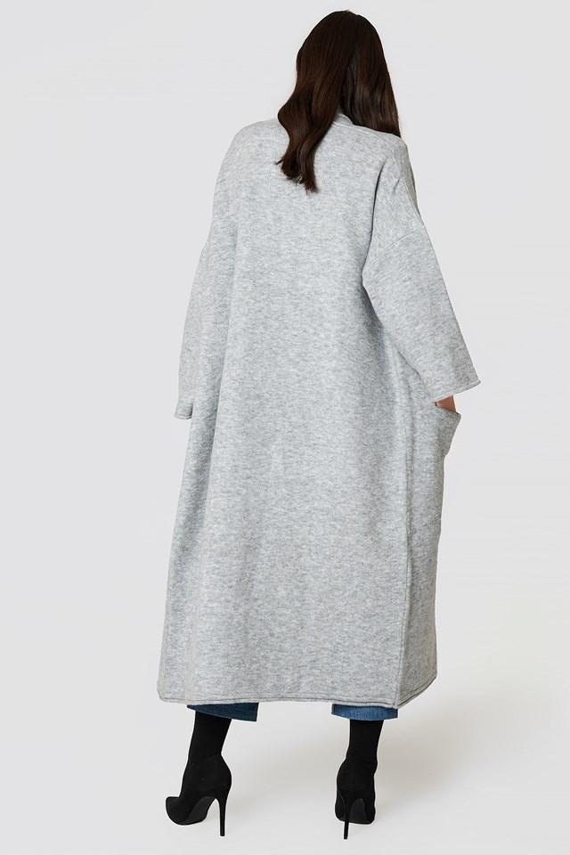Long Sleeve Maxi Cardigan Grey