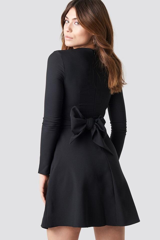Long Sleeve Mini Dress Black