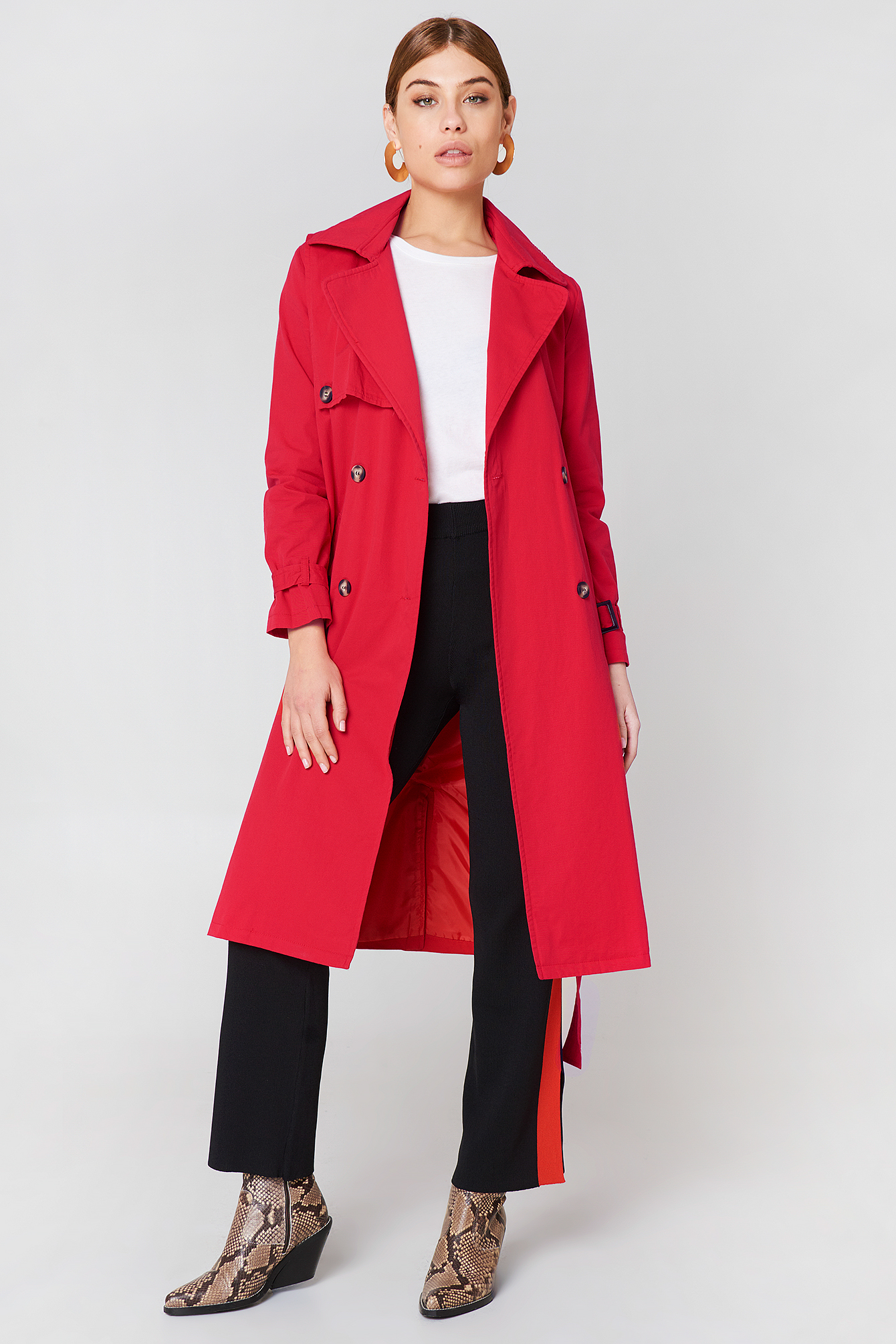 Trendyol Long Trenchcoat - Red