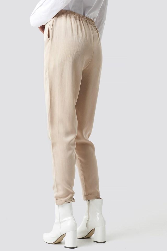 Lyocell Carrot Pants NA-KD.COM