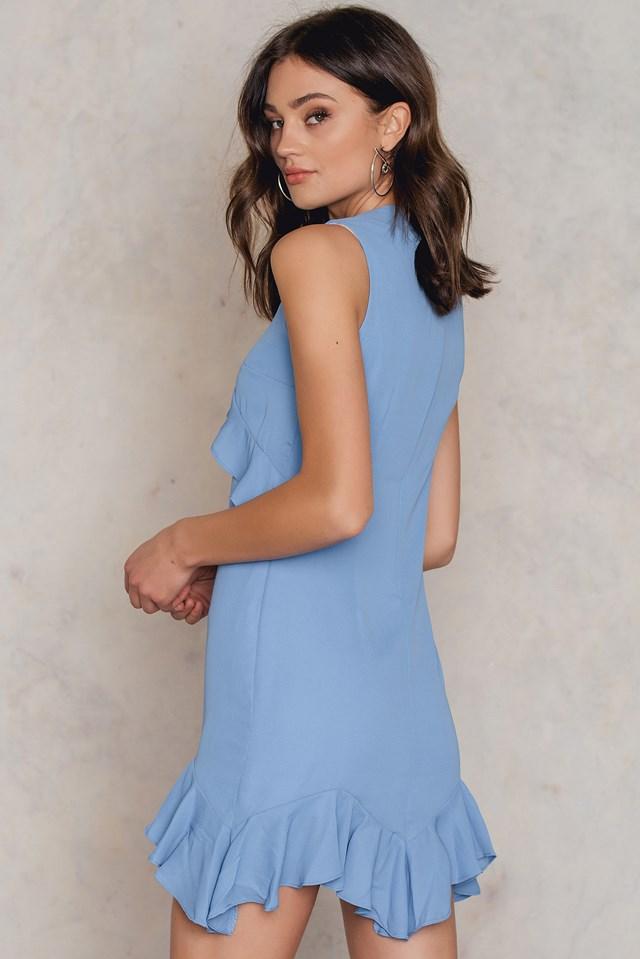 Mavi Ruffle Dress Blue