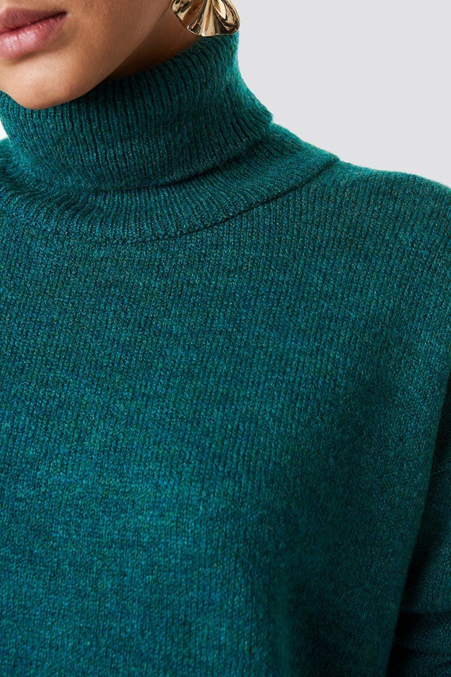 Maya Knitted Jumper Petrol