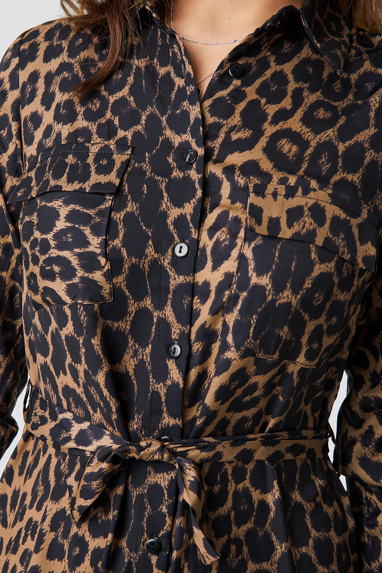 Maya Leopard Patterned Dress NA-KD.COM