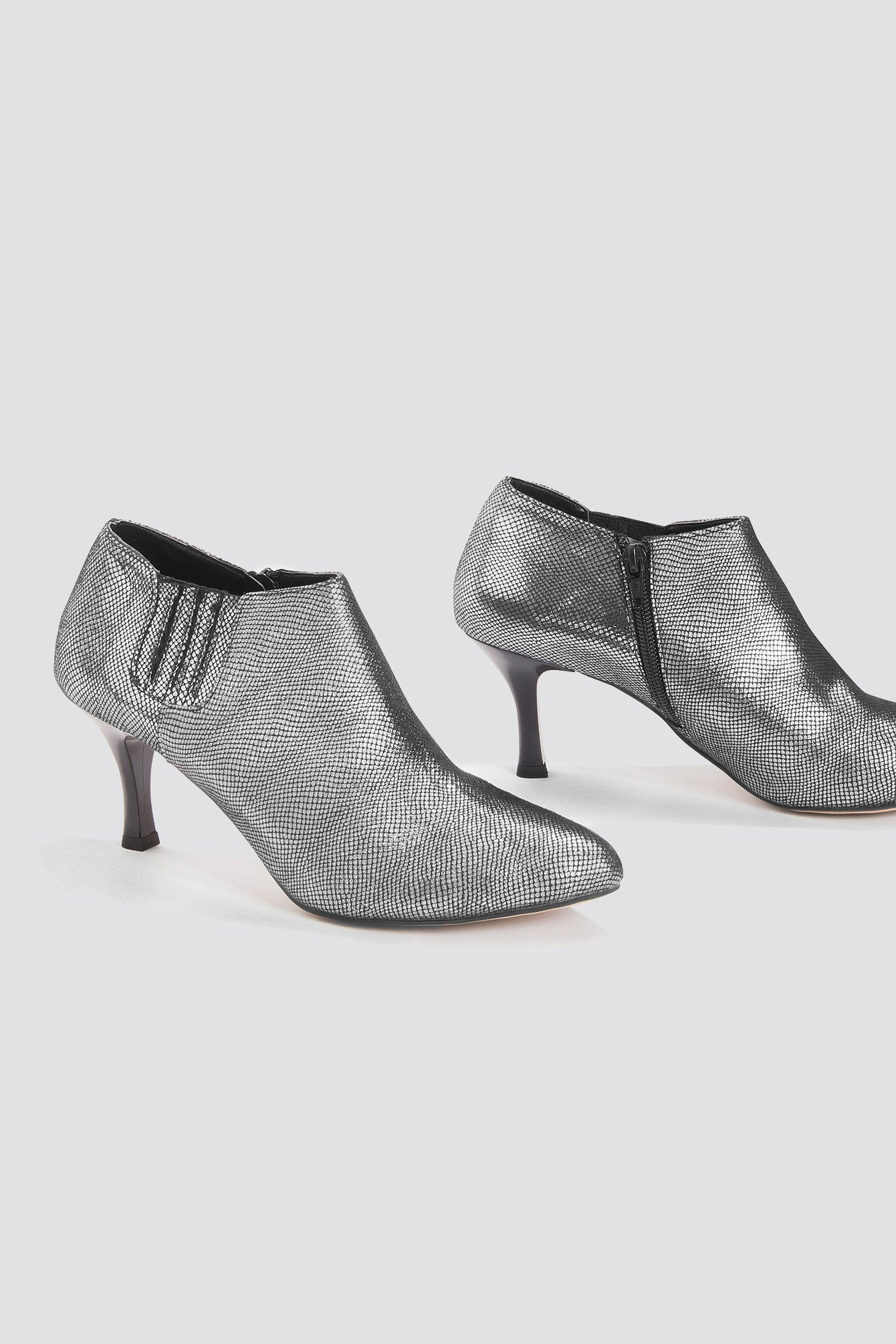 Trendyol Metallic Ankle Boot - Silver