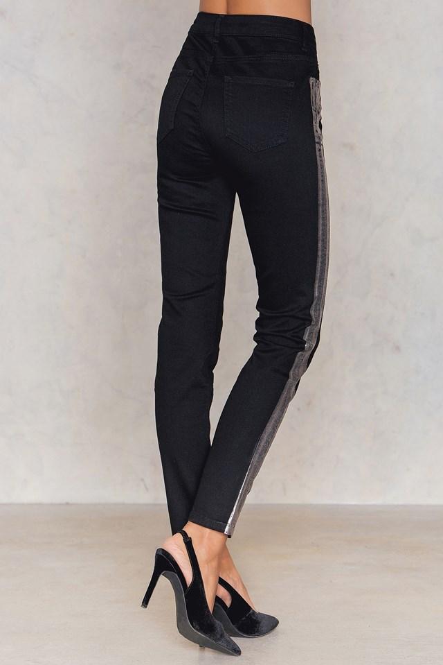 Metallic Skinny Jeans NA-KD.COM