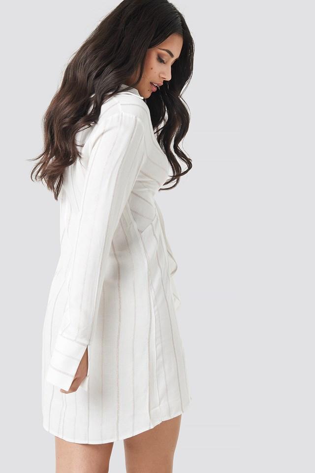 Mid Knotted Dress Ecru