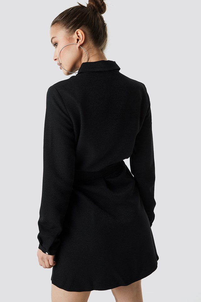 Midi Zipper Dress Black