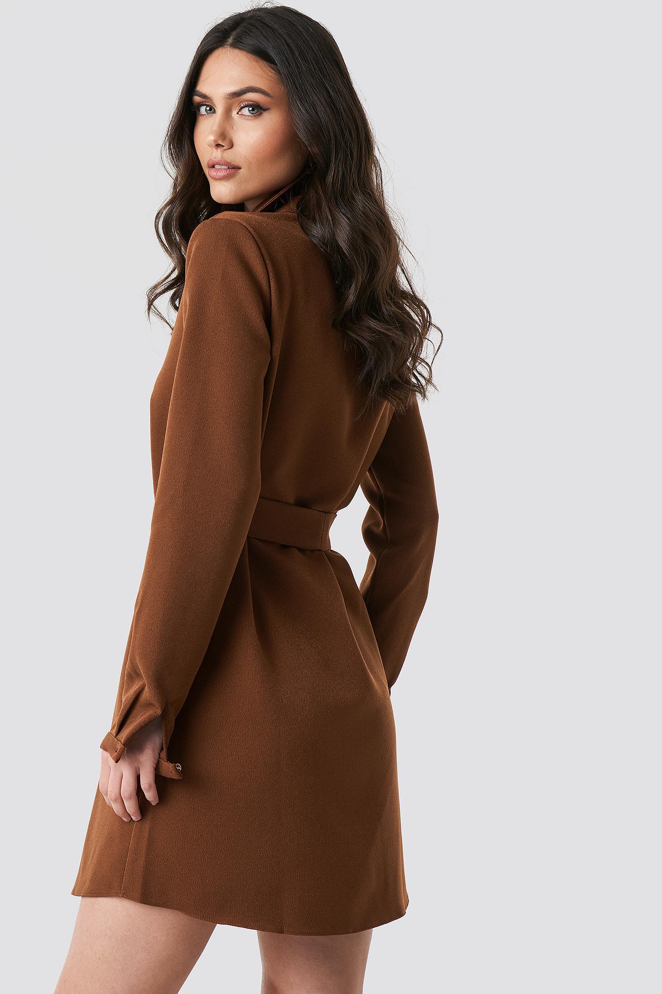 Midi Zipper Dress NA-KD.COM