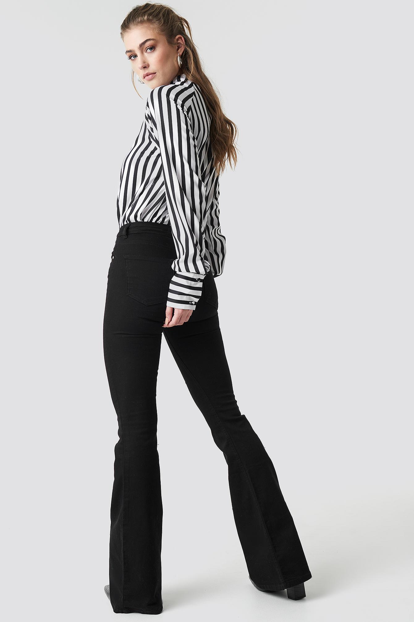 Milla High Waist Flared Jeans NA-KD.COM