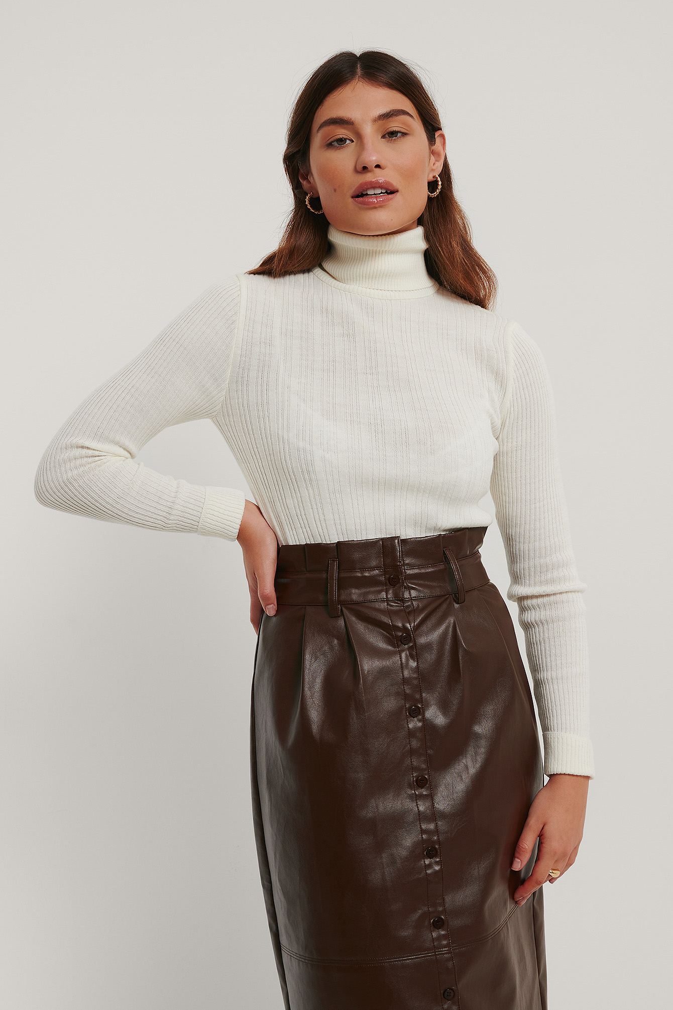 Ecru Milla Turtleneck Sweater