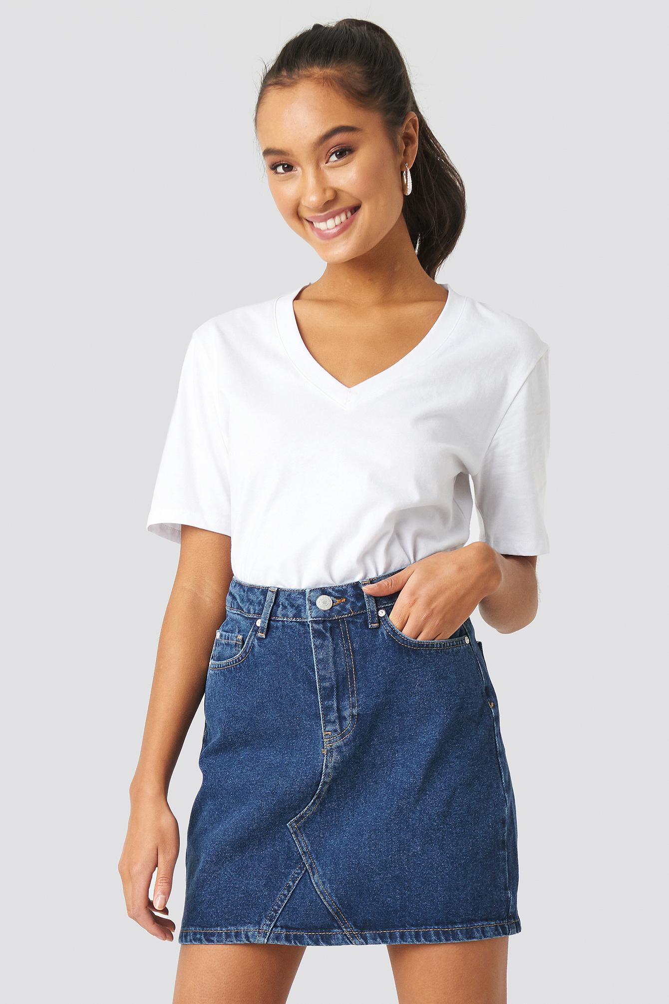 trendyol -  Milla Basic Denim Skirt - Blue