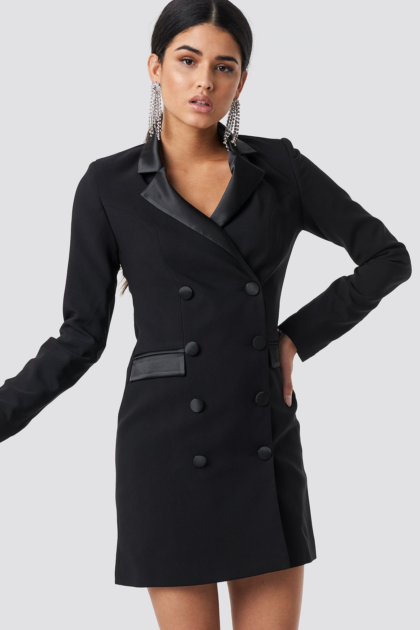 trendyol -  Milla Blazer Dress - Black