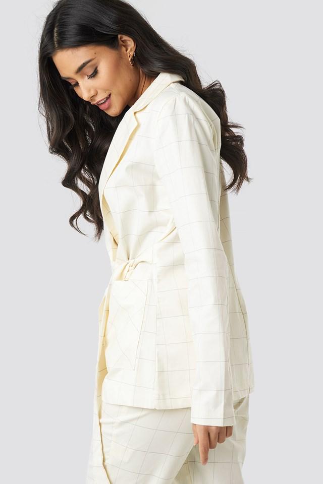Milla Checkered Blazer White