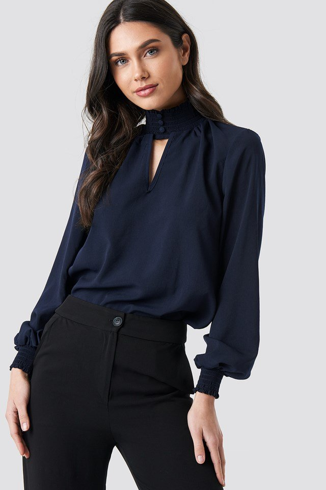 Milla Classic Blouse Navy