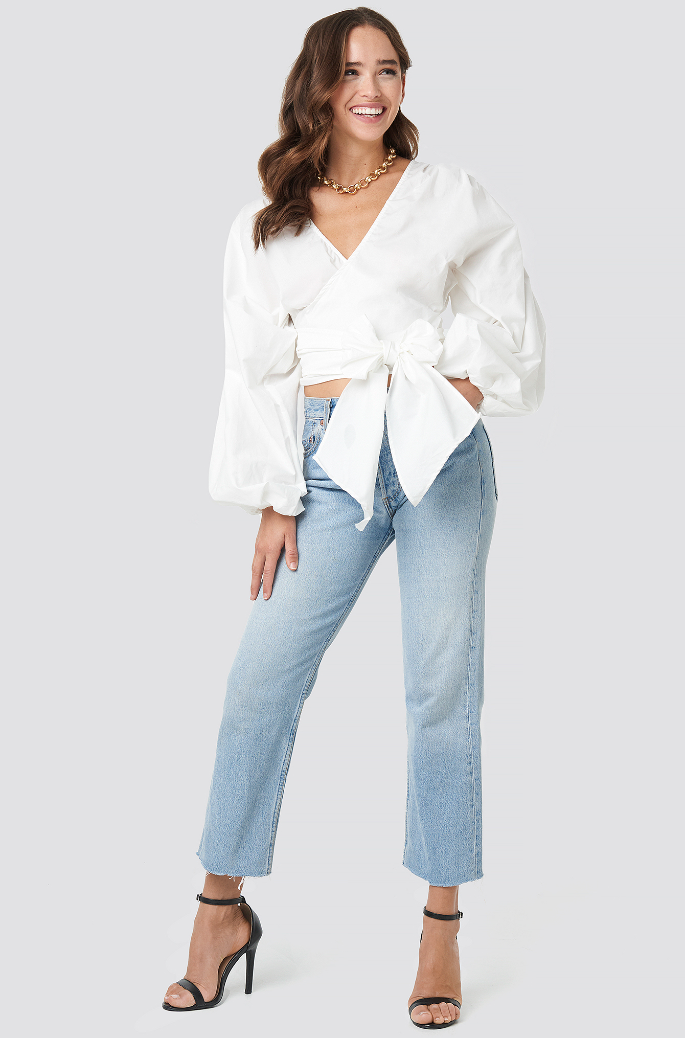 Milla Double Breasted Blouse NA-KD.COM