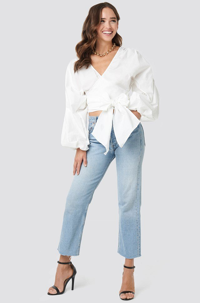 Milla Double Breasted Blouse White