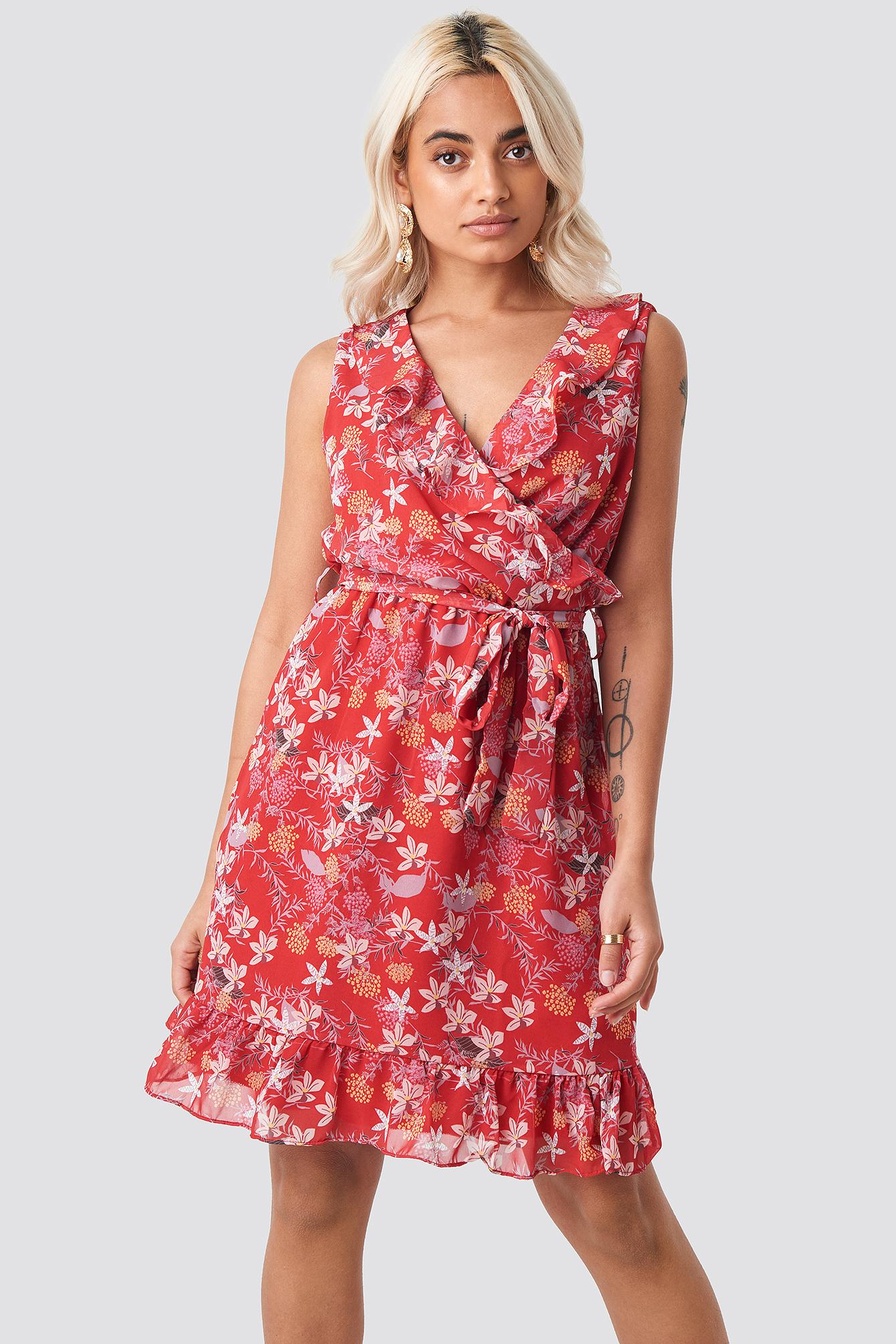 Milla Flower Mini Dress NA-KD.COM